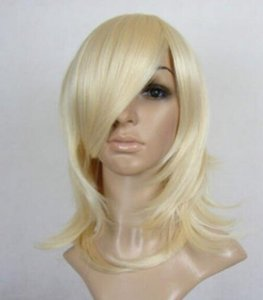 Wholesale New Short Platinum Blonde Anti Alice Cosplay Wig