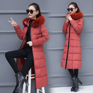 Wholesale Real Time Winter Pattern Cotton padded Woman Long Fund Cotton Cotton padded Jacket Loose Coat Generation Hair Group