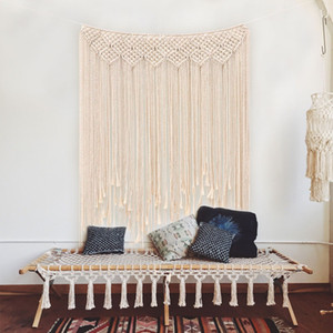 ingrosso matrimonio fondali-Wedding Decoration Macrame Wedding Backdrop x115cm corda del cotone Photo Booth fondale Macrame Wall Hanging Cotton Weave