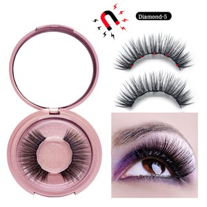 Wholesale 3D Mink Magnetic Eyelash False Eyelash Extension Waterproof Mink Lashes Makeup Maquiagem Eyelashes Magnetic Liquid Eyeliner