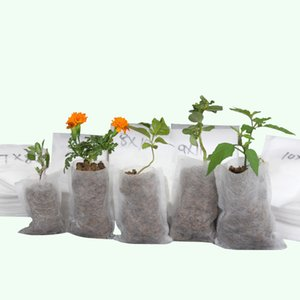 Wholesale Biodegradable Seed Nursery Bags Flower Pots Vegetable Seed Germinate Seedling Sprout Cutting Clone Grow Pot Planting Bag Non-woven Breathabl