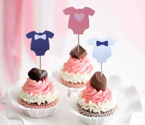 Wholesale Dress Cupcake Toppers Girls Boys Cute Dress Baby Shower Dress Cake Toppers for Birthday Party Decoration