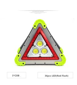 NEW Powerful 50W 3*COB+Red LED Working Lamp LED Traffic Emergency Light on Sale