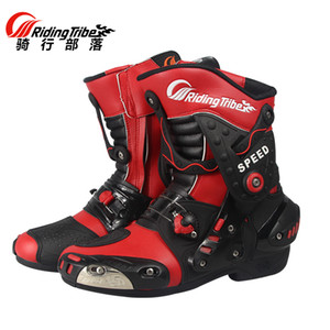 Wholesale Riding Tribe HIGH SPEED Motorcycle calf boots Motorbike Racing Microfiber Leather Boot Motocross waterproof A010 shoes