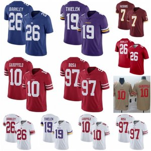 10 Jimmy Garoppolo San Francisco 97 Nick Bosa 49ers Jerseys 7 Dwayne Haskins Redskins 26 Saquon Barkley Giants Adam Thielen Vikings on Sale