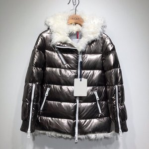 Wholesale 2019 brand girl Duck down parkas for women wool down jacket down coat Space silver Luxury women s clothing