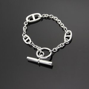 Wholesale Luxury l stainless steel OT buckle H cast pig nose Bracelet three diurnal chains women bracelet