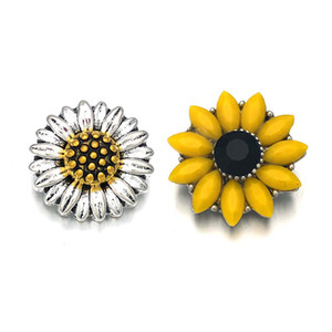 Sunflower Component Crystal w452 18mm Metal Snap Button For Bracelet Necklace Interchangeable Jewelry Women Accessorie Findings