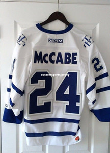 Wholesale Cheap custom CCM Toronto Maple Leafs Bryan McCabe Jersey Men Size S Made in Canada Mens Personalized stitching jerseys