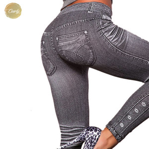 Wholesale Out Work Legging Leggings Gray Fashion Style Demin Woman Leggings Trendy Super Deal Jeans Type Jeans