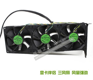 Wholesale New Original three fans As a lot ADDA AD0912UX-A7BGL12V 0.50A Graphics card cooling companion PCI slot fan