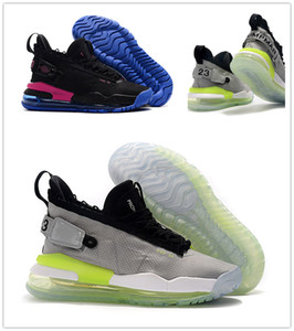 Wholesale Proto Neon Green to Blue gradient sole Purple Royal Mens Basketball Shoes Jumpman Black Mens Designer Sports Sneakers with box