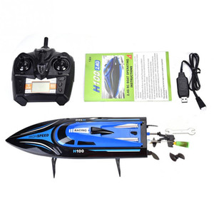 RC Ship Remote Control 4 Channel Boat Racing Speedboat Model Toy Ship LCD Battery Power Toys For children Kids