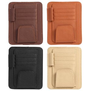 Wholesale Sun Visor Car Organizer Auto Car Accessories Card Holder Tool Pouch Bag Card Storage Glasses Holder Cards Sun Visor Organizer