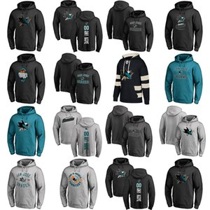 Hot Sale Custom Mens Womens Kids San Jose Sharks Embroidery Best Quality Cheap Black Grey Blue Ice Hockey Hoodies with Any Name&Any No.
