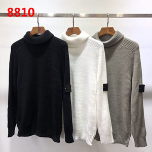 Wholesale 2019 High Quality Turtleneck knit sweater long sleeve warm Sweater black white grey Sweater M XL