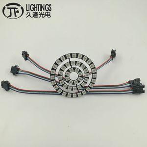 WS2813 LED Ring New WS2812B 8 16 24 48 Bit 5050 RGB WS2813 addressable LED Ring Led Board for Arduino 5VDC Strip Type angel eyes