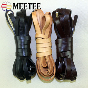 Wholesale braided leather bracelets necklaces resale online - 5meters mm Flat Leather Rope mm Thicken PU Cords Braided Bracelet Necklace Jewelry Manual Leather Crafts Accessory