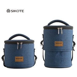 Wholesale 2018 new drum insulation bag portable Oxford cloth lunch bag aluminum film round with rice thickening