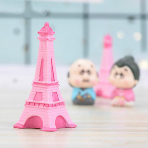 New Eiffel Tower Resin Craft Miniature Fairy Garden Desktop Room Decoration Micro Landscape Accessory Cactus Planter Gift Novelty Items