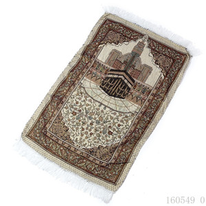 Wholesale 70 cm Islamic Muslim Prayer Mat Salat Musallah Prayer Rug Tapis Carpet Tapete Banheiro Islamic Praying Carpet