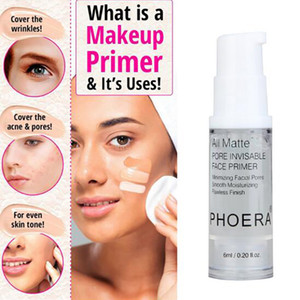 Wholesale Phoera face Primer Makeup Base ML Oil Control Professional Matte MakeUp Pores Brand Foundation Primer basic tool to make you more beautiful