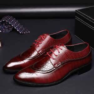 Wholesale snakers shoes for sale - Group buy brogues formal dresses men business shoes leather pointed black office shoes for men oxford shoes men elegant snakers sapato social