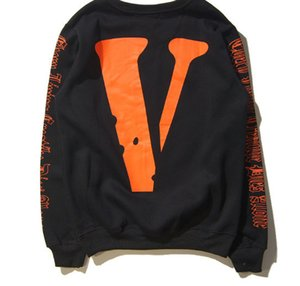 Wholesale Hot HIP HOP VLONE Men and Women hoodie Sweatshirt Long Sleeve A AP Bari Virgil Big V Hoodies