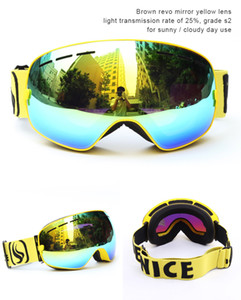 Wholesale Professional Multi colors ski goggles double layers UV400 anti fog spherical ski mirror glasses skiing men women snowboard goggles SNOW3100