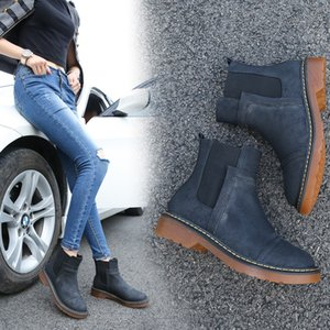 Women Spring Winter Martin Boots Designer PU Leather Platform Ankle Short Boots Antislip chunky Heels UK Classic Designer Shoes 34-43 C92604 on Sale