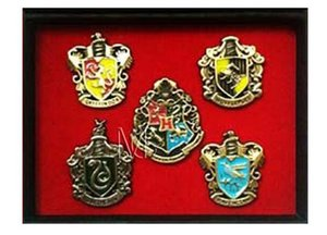 Wholesale Cosplay Harry Potter Charms Metal Brooch Cosplay Badge Pins Ravenclaw Hogwarts Slytherin Hufflepuff Badge Metal Pins Accessories
