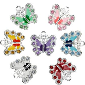 Wholesale Small Butterfly Enamel Charm Beads DIY for Jewelry Making DIY Keychain Pendant Necklace Bracelet Colors Charms Compoents