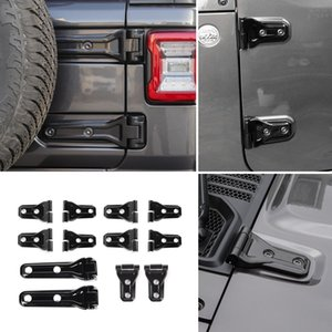 Wholesale jeep tire cover for sale - Group buy 4Door Car Door Hinge Hinge Cover Spare Tire Holder Hinge Cover Black For Jeep Wrangler JL Auto Exterior Accessories
