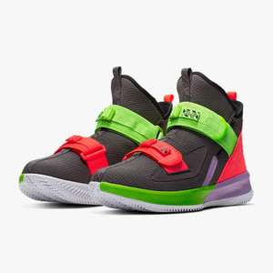 Wholesale LeBron Soldier 13 kids Thunder Grey for sales With Box free shipping hot Soldier 13 men women Basketball shoes free shipping US4-US12
