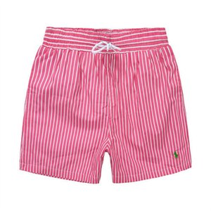 Wholesale 2019 New listing fashion Men s Little horse Beach pants stripe Design Summer POLO Shorts For man Swim Wear Board Quick drying Shorts