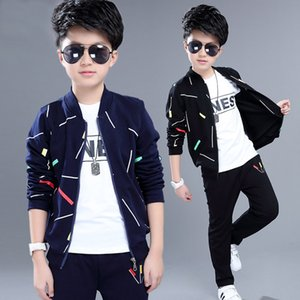 3-piece Set Kids Clothing Children's Wear Jacket Autumn New Suit In The Big Boy Spring Boys and Children Sports Clothes Trend Outwear on Sale