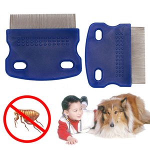 Wholesale lice combs for sale - Group buy Lice Comb Non Slip Handle Nit Free Pet Dog Cat Louse Flea Remove Brush Stainless Steel Grooming Tools Durable