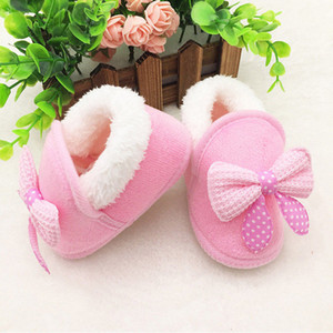 Wholesale Baby Fur Warm First Walkers Newborn Baby Girl Boy Snow Boots High Quality Winter Soft Shoes New Bebes Infant Warm Booties