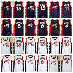 1996 Dream Team Jerseys Basketball 13 Shaquille O'Neal Oneal Hakeem Olajuwon Penny Hardaway Charles Barkley Reggie Miller Scottie Pippen on Sale