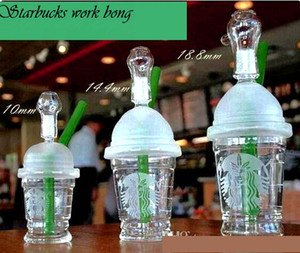 Wholesale sandblasted starbucks cup bong resale online - 2020 starbuck bongs mini Starbucks Cup glass bongs sandblasted glass pipes for smoking oil rigs glass water bongs and nail cheap hookah