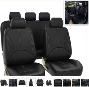 Wholesale PU leather car seat covers four seasons all purpose waterproof dust proof available for most five seater cars Automobile interior fittings