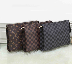 Wholesale Fashion Europe and America Men Wallet Clutch Bag Retro Letters Large Capacity Zipper Bag Casual Pu Bag