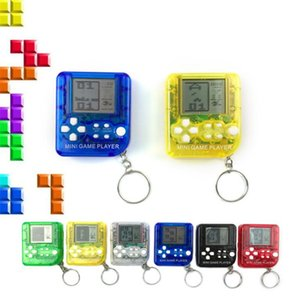 New Mini Portable Tetris Game Machine Console Pendant Keychains LCD Players Kids Handheld Game Player Children Electronic Toys Gifts A10902