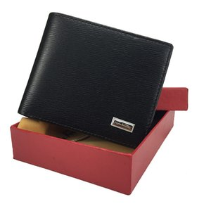 Wholesale 2019 new striped men s leather wallet business card holder small wallet credit card holder with gift box quality shopping cart