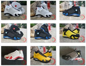 Wholesale New s Sup White Black Royal Candy Cane Black Toe Fusion Varsity Red Suede Men Basketball Shoes Last Shot Black Yellow Sneakers With Box