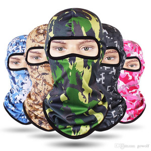 Wholesale Breathful Styles CAMO Face Mask CS Tactical Bike Bicycle Masks Cycling Ski Sport Headband Military Scarf Hats Caps