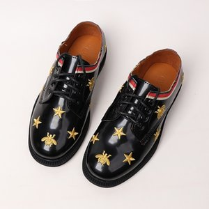 Wholesale kids shoes boys summer boys student shoes cute fashion set version 2019 comfortable fashion stars bee pattern