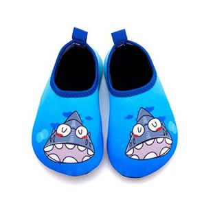 Kalupao 2018 Summer Quick Drying Beach Water Shoes Kids Cut Animal Home Slipper Shoes For Swimming Aqua Sock Children Slippers