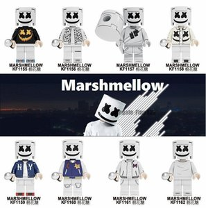 Wholesale Kids Building Figures Toys Marshmello DJ Mask Blocks Movies Video Game Cartoon Blocks Toys Figures Blocks