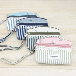 Wholesale 50PCS Women Cute Coin Bag Lady Printing Mini Wallet Simple Coin Purse Ladies Zipper Wallets Key Bag Pouch